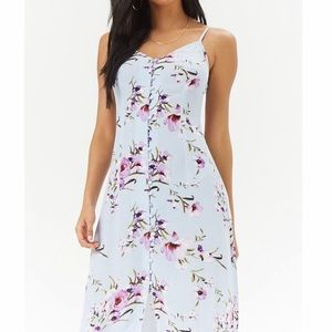 Forever 21 Floral Lilac Maxi Dress